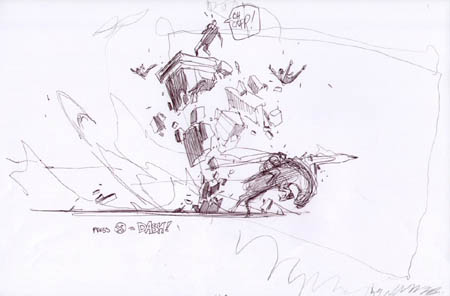 Darksiders: Ruin dash attack concept art (Sketch)