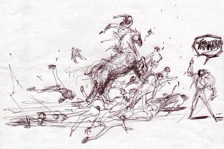 Darksiders: Ruin tramples concept art (Sketch)