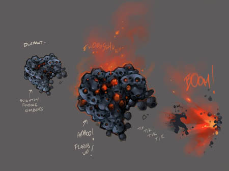 Darksiders Wallclimb Detonator monster concept art