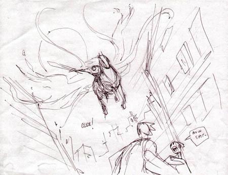 Darksiders: War & Ruin glide concept art (Sketch)