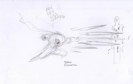 Darksiders: War brave fencer concept art (Sketch)