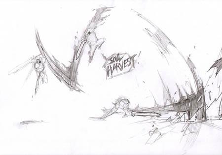 Darksiders: War soul harvest concept art (Sketch)