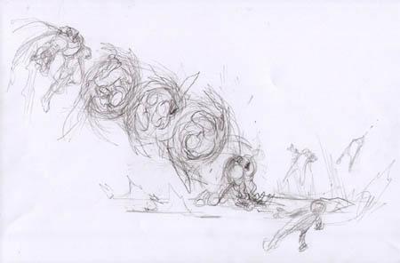 Darksiders: War spin slash concept art