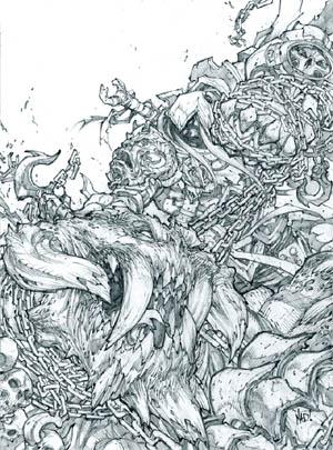 Darksiders: War vs Trauma promo art (Pencil)