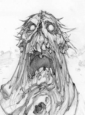 Darksiders Swarm Caller concept art (Pencil)