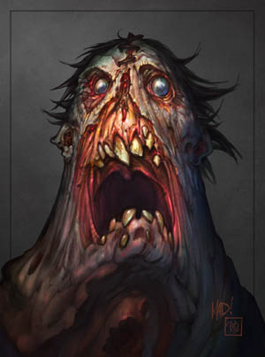 Darksiders Swarm Caller concept art
