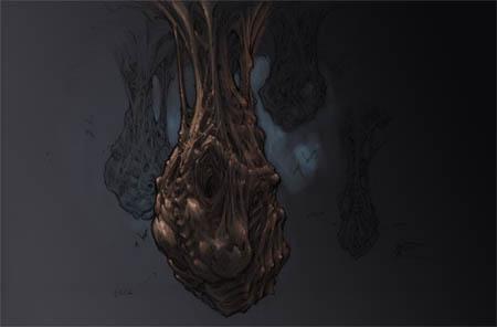 """Darksiders """"bat-sacks"""" concept art (Color)"""