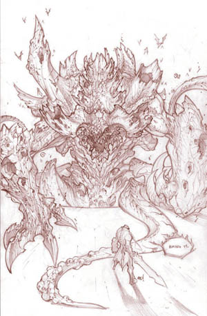 "Darksiders Boss ""Hollow Lord"" concept art  (Pencil)"