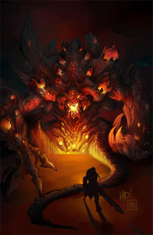 """Darksiders Boss """"Hollow Lord"""" concept art  (Color)"""