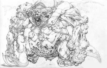 Darksiders Boss early concept art (Pencil)