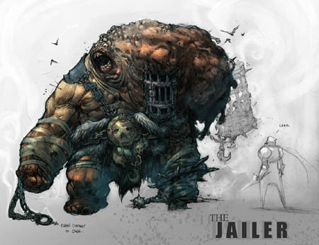 Darksiders The jailer Boss concept art (Color)