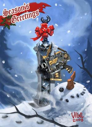 Darksiders & Warhamer 40K DMO special Christmas card (Color)