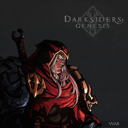 Darksiders Genesis in game War portrait (Color)