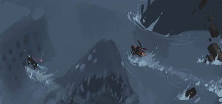Darksiders Genesis unused scene horse chase with Leviathan (Color)