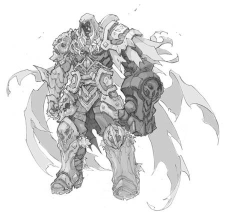 Darksiders Genesis War standard pose concept art (Pencil)