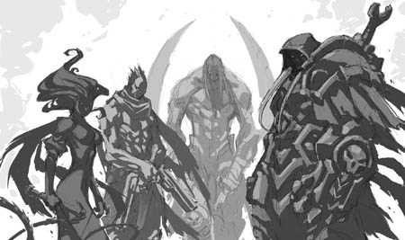 Darksiders in-game cutscene concept art (Sketch)