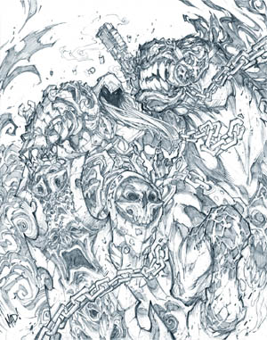 Darksiders: Play mag cover 2009/12 (Pencil)