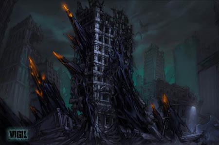 Darksiders: shattered building variant concept art (Color)