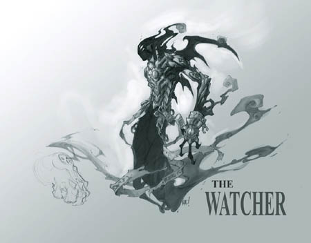 "Darksiders ""the Watcher"" concept art (Pencil)"