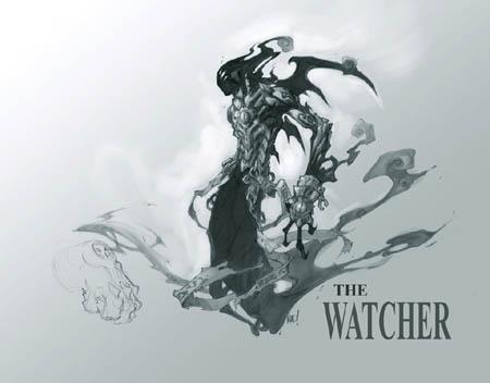 """Darksiders """"the Watcher"""" concept art (Pencil)"""