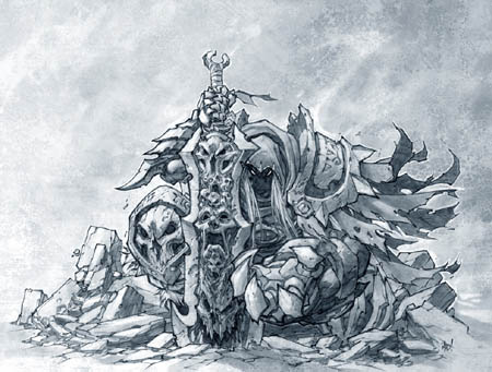 The art of Darksiders, War texture version