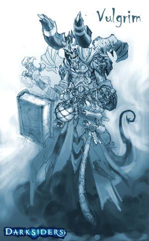 Darksiders Vulgrim concept art (Pencil)
