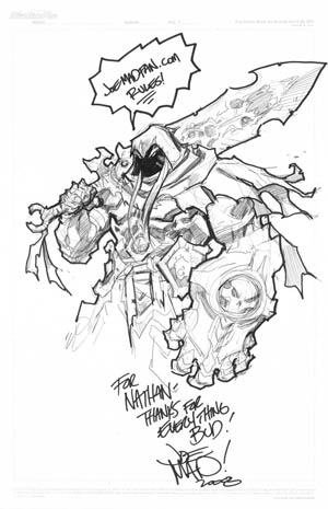 Darksiders War Sketch done at SDCC 2008 (Pencil)