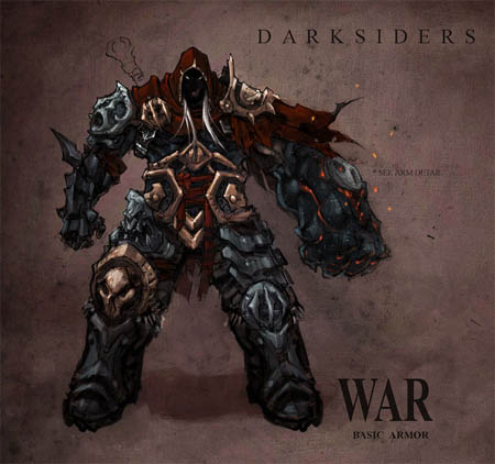 Darksiders War basic armor concept art (Color)