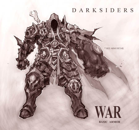 Darksiders War basic armor concept art (Texture)
