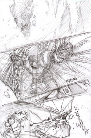 Darksiders War birth scene 1 concept art (Pencil)