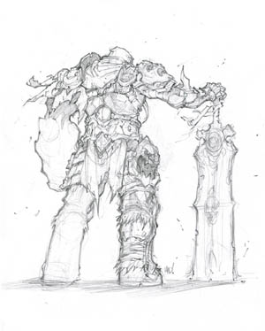 Darksiders War concept art sketch  (Pencil)