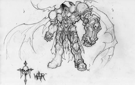 Darksiders War early concept art (front) (Pencil)