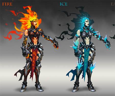 Darksiders 3 fury front back concept arts (Color)