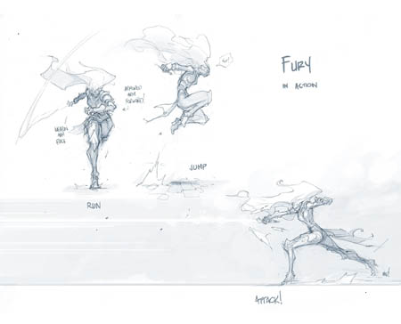 Darksiders 3 fury basic actions concept art