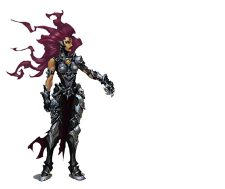 Darksiders 3 fury front back concept arts (Other)