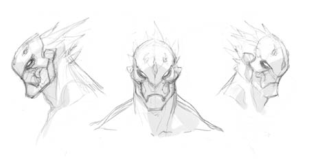 Darksiders 3 Strife headshots concept art (Sketch)