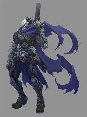 Darksiders 3 Strife standard pose concept art (Color)