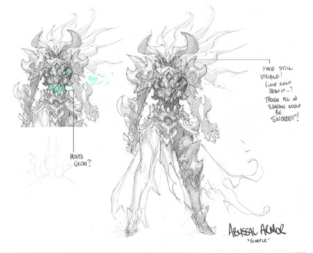 Darksiders 3 Fury abyssal armor unused concept art