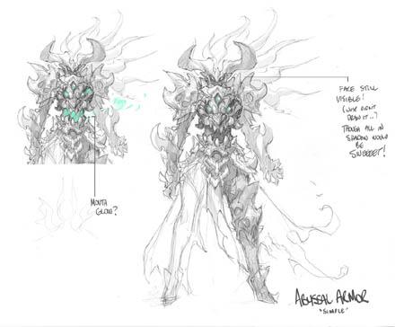 Darksiders 3 Fury abyssal armor unused concept art (Sketch)