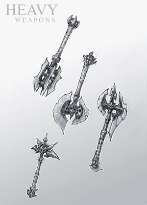 Darksiders 2 heavy weapon concept art (Pencil)
