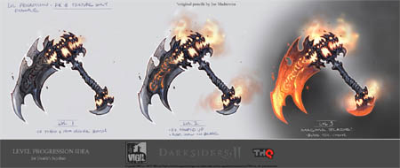 Darksiders 2 Scythe progression idea concept art (Color)