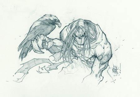 Darksiders 2 Death & Dust Sketch (1UP) (Pencil)