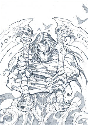 """Darksiders II: Death's Door"" comic cover (Pencil)"