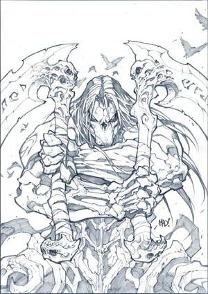 """""""Darksiders II: Death's Door"""" comic cover (Pencil)"""