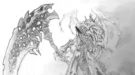 DarksidersII Death Reaper form concept art (Other)