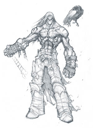 Darksiders 2 Death & Dust first concept art (Pencil)