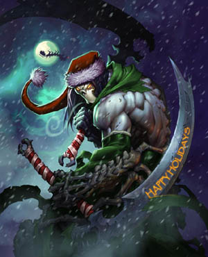 Darksiders II Death special Christmas art (Color)