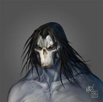 Darksiders 2 Death face concept arts
