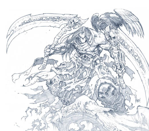 Darksiders II: Game Informer cover issue #219 (Pencil)