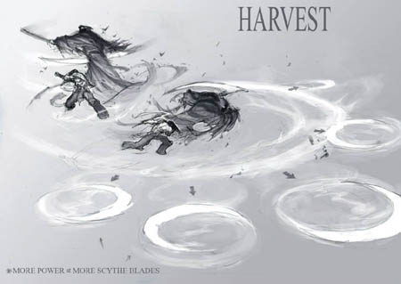 DarksidersII Death Harvest combat skill  concept art (Pencil)